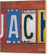 Jack License Plate Name Sign Fun Kid Room Decor Wood Print