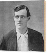 Jack London  American Writer, In 1906 Wood Print