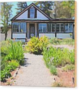 Jack London Countryside Cottage And Garden 5d24565 Long Wood Print