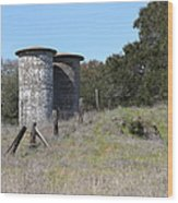 Jack London Ranch Silos 5d22146 Wood Print by Wingsdomain Art and Photography