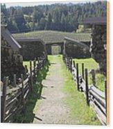 Jack London Ranch Winery Ruins 5d22180 Wood Print