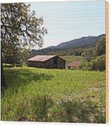 Jack London Stallion Barn 5d22056 Wood Print by Wingsdomain Art and Photography