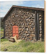 Jack London Stallion Barn 5d22104 Wood Print by Wingsdomain Art and Photography