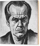 Jack Nicholson Wood Print
