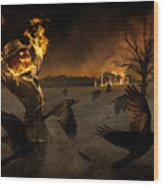 Jack-o\'-scarecrow Wood Print