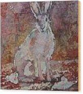 Jack Rabbit Wood Print