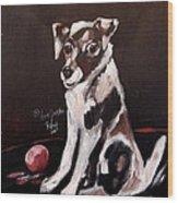 Jack Russell II Wood Print