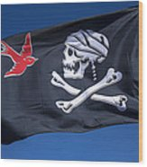 Jack Sparrow Pirate Skull Flag Wood Print