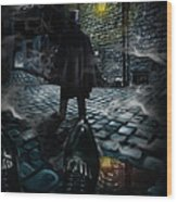 Jack The Ripper Wood Print by Alessandro Della Pietra
