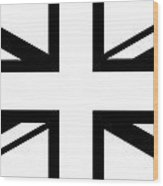 Jack White    White And Black Union Jack Wood Print