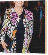 Jackie Kennedy Onassis 1990 Wood Print