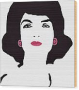 Jackie Kennedy Signature Pink Lips Wood Print by Jost Houk