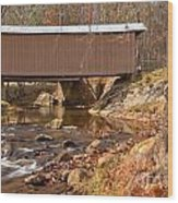 Jacks Creek Bridge Over Smith River Wood Print