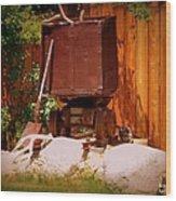 Jacks Mining Cart Wood Print