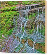 Jackson Falls At Mile 405 Natchez Trace Parkway-tennessee Wood Print