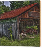 Jackson Garage Wood Print