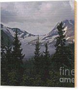 Jackson Glacier Wood Print