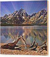 Jackson Lake Mt. Moran Wood Print