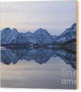 Jackson Lake Reflections Wood Print