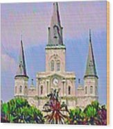Jackson Square In The French Quarter Wood Print
