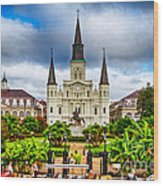 Jackson Square New Orleans Wood Print by Jarrod Erbe