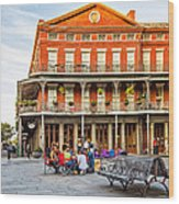Jackson Square Reading Wood Print