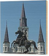 Jackson Square Salute Wood Print by Kevin Croitz