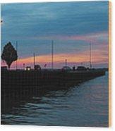 Jackson Street Pier - Sunset Wood Print