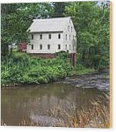 Jacksons Mill In The Rain Wood Print