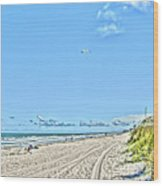 Jacksonville Fl Beach Wood Print