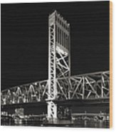 Jacksonville Florida Main Street Bridge Wood Print