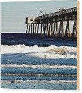 Jacksonville Pier Wood Print