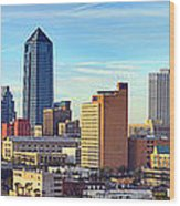 Jacksonville Skyline Morning Day Color Panorama Florida Wood Print