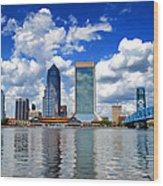 Jacksonville Skyline Wood Print