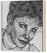 Jaclyn Smith In 1985 Wood Print by J McCombie