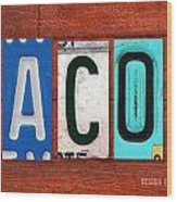 Jacob License Plate Name Sign Fun Kid Room Decor. Wood Print