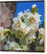 Jacobs Ladder Abstract Flower Painting Wood Print