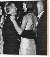Jacqueline Kennedy Dancing Wood Print
