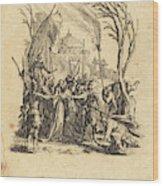 Jacques Callot French, 1592 - 1635, The Betrayal Wood Print