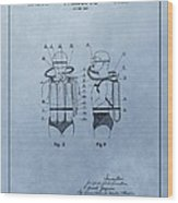 Jacques Cousteau Diving Suit Patent Wood Print