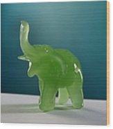 Jade Elephant Wood Print
