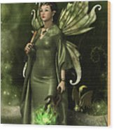 Jade Faery Queen Wood Print