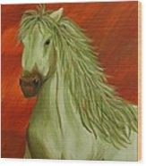 Jade Horse Wood Print