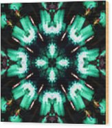 Jade Reflections - 4 Wood Print