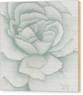 Jade Rose Wood Print