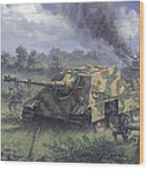 Jagdpanther In Normandy 1944 Wood Print