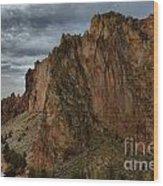 Jagged Peaks At Smith Rock Wood Print