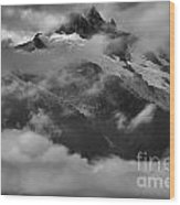 Jagged Peaks Glaciers And Storms Wood Print