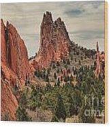 Jagged Peaks Of The Gods Wood Print