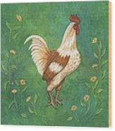 Jagger The Rooster Wood Print